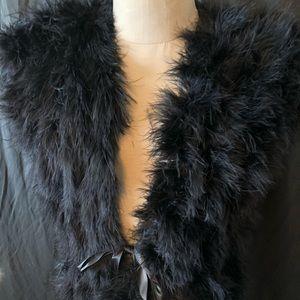Neimen Marcus ladies black feather vest